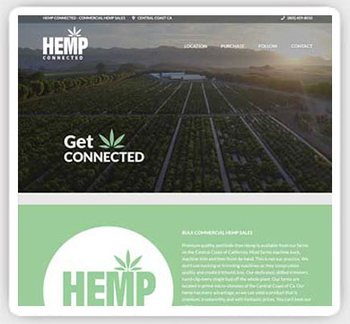 cannabis hemp web design