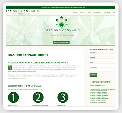 cannabis web design