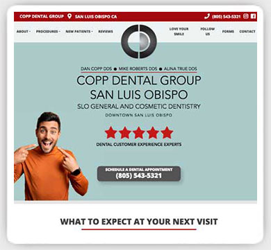 dental group web design